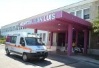 Claudia Marín de 37 años ingresó a las 16:50 al Hospital San Luis con quemaduras en su cara, cuello, pecho y brazos.