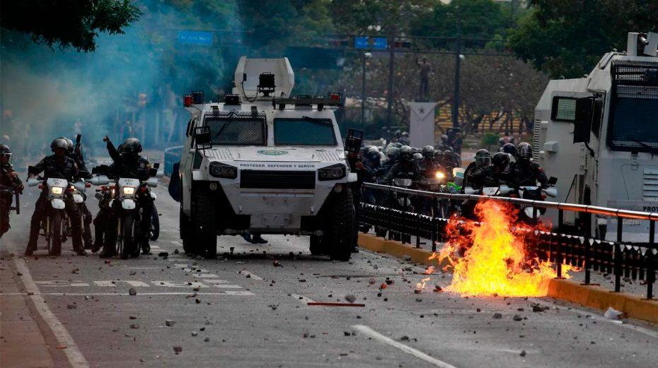 Resultado de imagen para ya hay enfrentamiento en venezuela